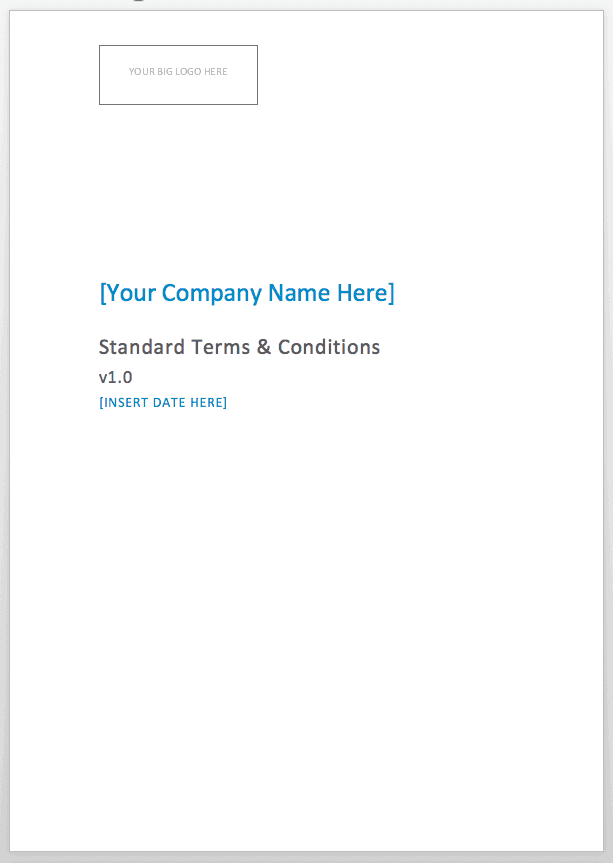 Consultancy Terms And Conditions Template Consulting Compass