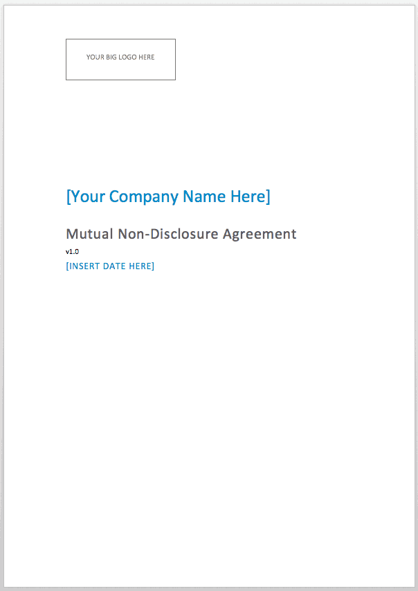 Mutual Non Disclosure Agreement Consulting Compass